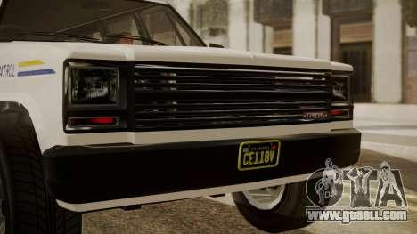 GTA 5 Declasse Rancher XL Police IVF for GTA San Andreas back view