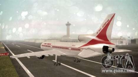 Lockheed L-1011 Air India for GTA San Andreas left view