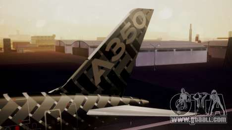 Airbus 350-900XWB MSN2 Carbon Livery for GTA San Andreas back left view
