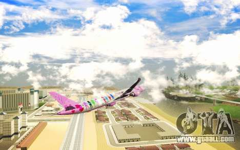LoveLive Boeing 787-9 Livery for GTA San Andreas back view