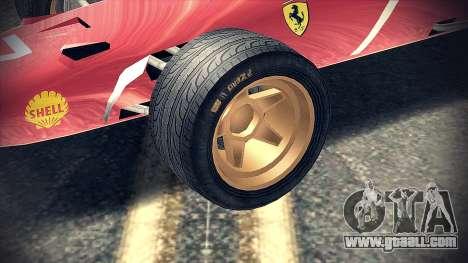 Ferrari 312 F1 for GTA San Andreas right view