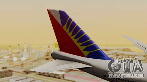 Boeing 747-8I Philippine Airlines for GTA San Andreas back left view