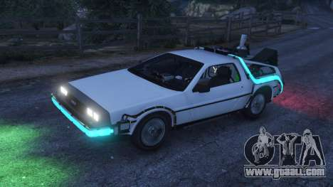 GTA 5 DeLorean DMC-12 Back To The Future v0.5 right side view
