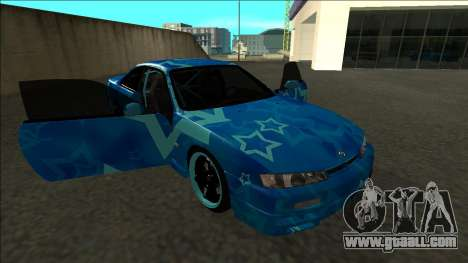 Nissan Silvia S14 Drift Blue Star for GTA San Andreas side view