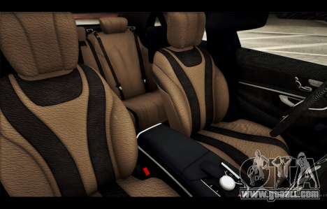 Mercedes Benz S63 W222 Quality Items for GTA San Andreas interior