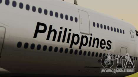 Boeing 747-8I Philippine Airlines for GTA San Andreas back view