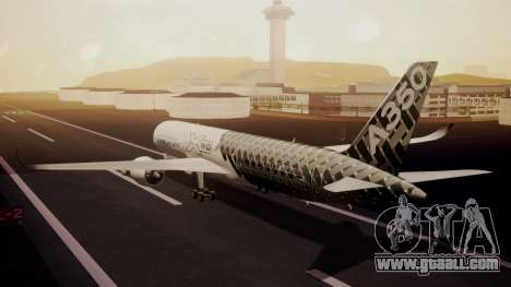 Airbus 350-900XWB MSN2 Carbon Livery for GTA San Andreas left view