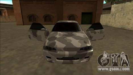 Nissan Skyline R32 Army Drift for GTA San Andreas inner view