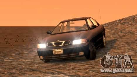 Daewoo Nubira I Sedan SX USA 1999 for GTA 4 back view
