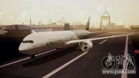Airbus 350-900XWB MSN2 Carbon Livery for GTA San Andreas