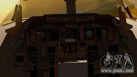 Boeing 747-100 Pan Am Clipper Juan T. Trippe for GTA San Andreas inner view