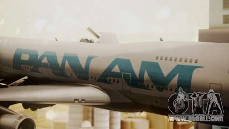 Boeing 747-100 Pan Am Clipper Juan T. Trippe for GTA San Andreas back view