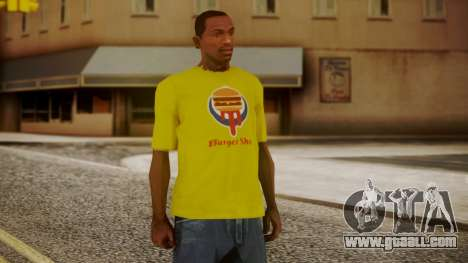 Burger Shot T-shirt Yellow for GTA San Andreas