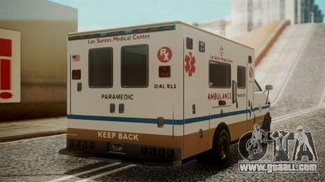 GTA 5 Brute Ambulance for GTA San Andreas left view
