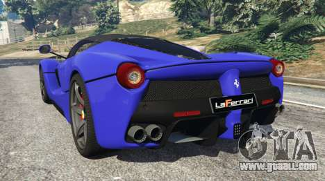 GTA 5 Ferrari LaFerrari 2013 v2.5 rear left side view