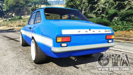 GTA 5 Ford Escort Mk1 v1.1 [blue] rear left side view