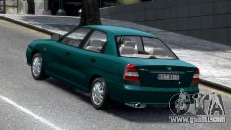 Daewoo Nubira II Sedan S PL 2000 for GTA 4 back left view