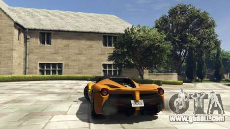 GTA 5 Ferrari LaFerrari 2013 v4.0 rear left side view