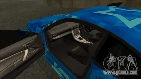 Nissan Silvia S15 Drift Blue Star for GTA San Andreas right view