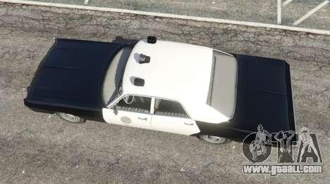 GTA 5 Dodge Polara 1971 Police v4.0 back view