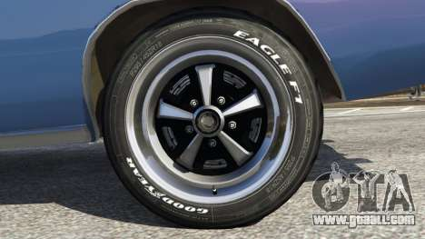 GTA 5 Dodge Charger RT 1970 v3.0 back view