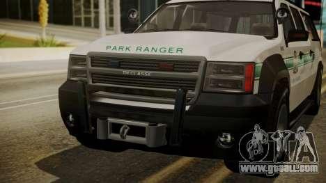 GTA 5 Declasse Granger Park Ranger IVF for GTA San Andreas side view
