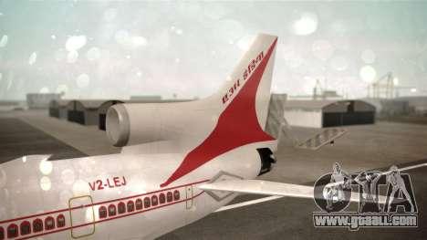 Lockheed L-1011 Air India for GTA San Andreas back left view