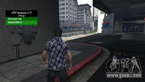 UFO Invasion 1.0.1 for GTA 5
