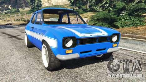 Ford Escort Mk1 v1.1 [blue] for GTA 5