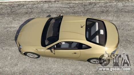GTA 5 Toyota GT-86 v1.4 back view