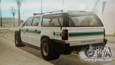 GTA 5 Declasse Granger Park Ranger for GTA San Andreas left view