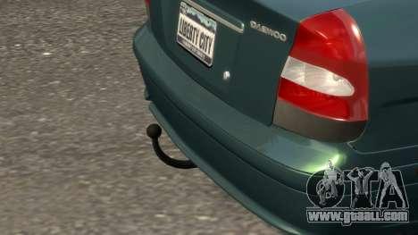 Daewoo Nubira II Sedan SX USA 2000 for GTA 4 bottom view