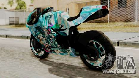 Bati Motorcycle Hatsune Miku Itasha for GTA San Andreas left view