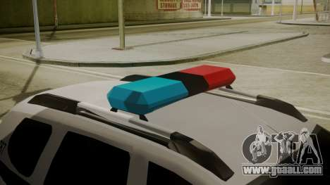Renault Duster Patrulla Policia Colombiana for GTA San Andreas back view
