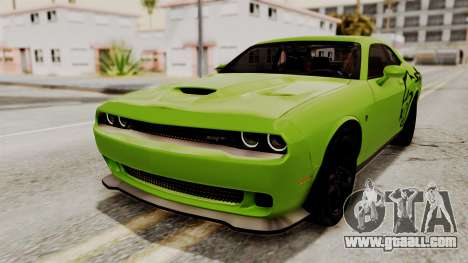 Dodge Challenger SRT Hellcat 2015 IVF PJ for GTA San Andreas wheels