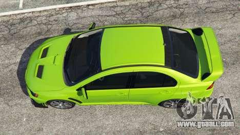GTA 5 Mitsubishi Lancer Evolution X FQ-400 back view