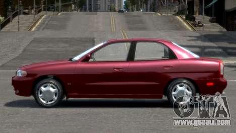 Daewoo Nubira I Sedan SX USA 1999 for GTA 4 left view