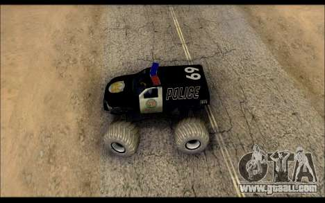 The Police Monster Trucks for GTA San Andreas right view