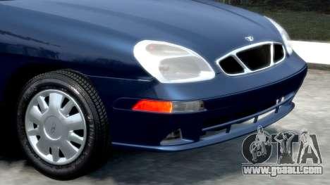 Daewoo Nubira II Sedan SX USA 2000 for GTA 4 inner view