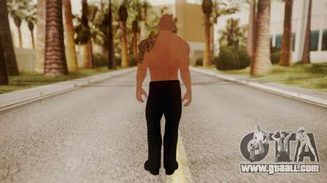 WWE 2K15 The Rock for GTA San Andreas third screenshot
