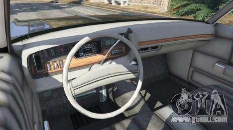 GTA 5 Dodge Polara 1971 Police v4.0 rear right side view