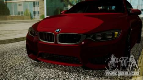 BMW M4 Coupe 2015 Walnut Wood for GTA San Andreas side view