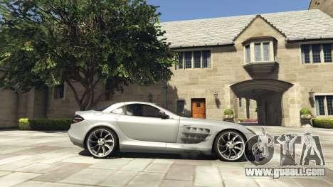 GTA 5 Mercedes-Benz SLR 2005 v2.0 left side view