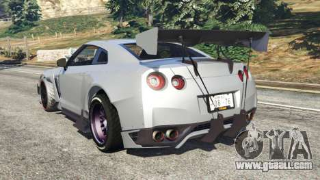 GTA 5 Nissan GT-R (R35) [RocketBunny] rear left side view