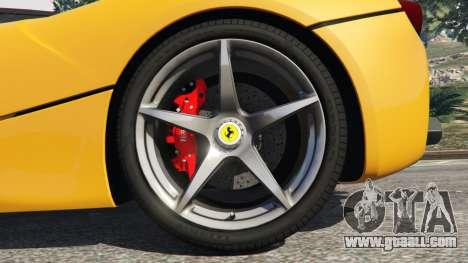 GTA 5 Ferrari LaFerrari 2013 v3.0 rear right side view