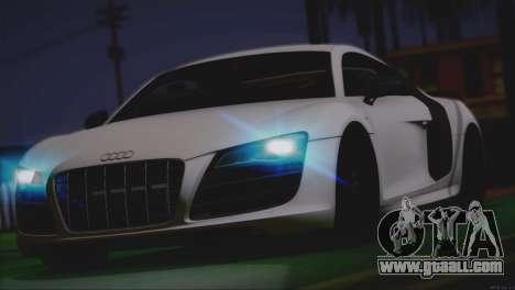 Audi R8 GT 2012 Sport Tuning V 1.0 for GTA San Andreas interior