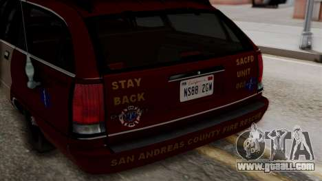 Chevy Caprice Station Wagon 1993-1996 SACFD for GTA San Andreas inner view