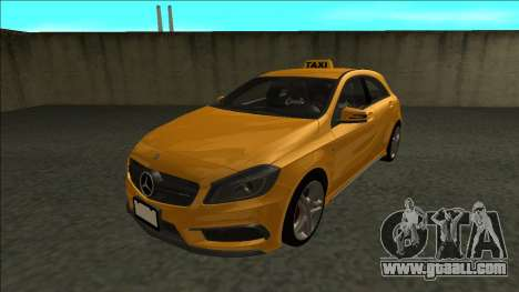 Mercedes-Benz A45 AMG Taxi 2012 for GTA San Andreas back left view
