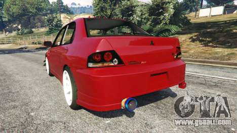 GTA 5 Mitsubishi Lancer Evolution IX Dk rear left side view