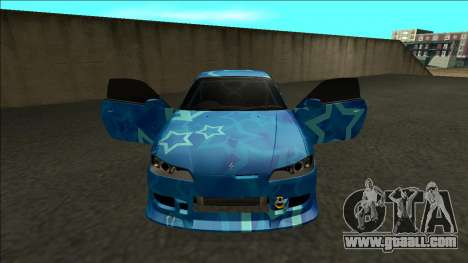 Nissan Silvia S15 Drift Blue Star for GTA San Andreas inner view